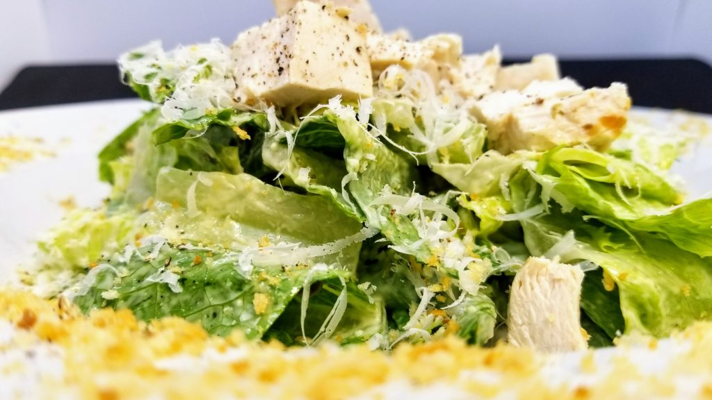 Lunch Menu - Romaine Hearts, House-Made Caesar Dressing, Grilled Chicken, Parmigiano Reggiano, Panko Crunch