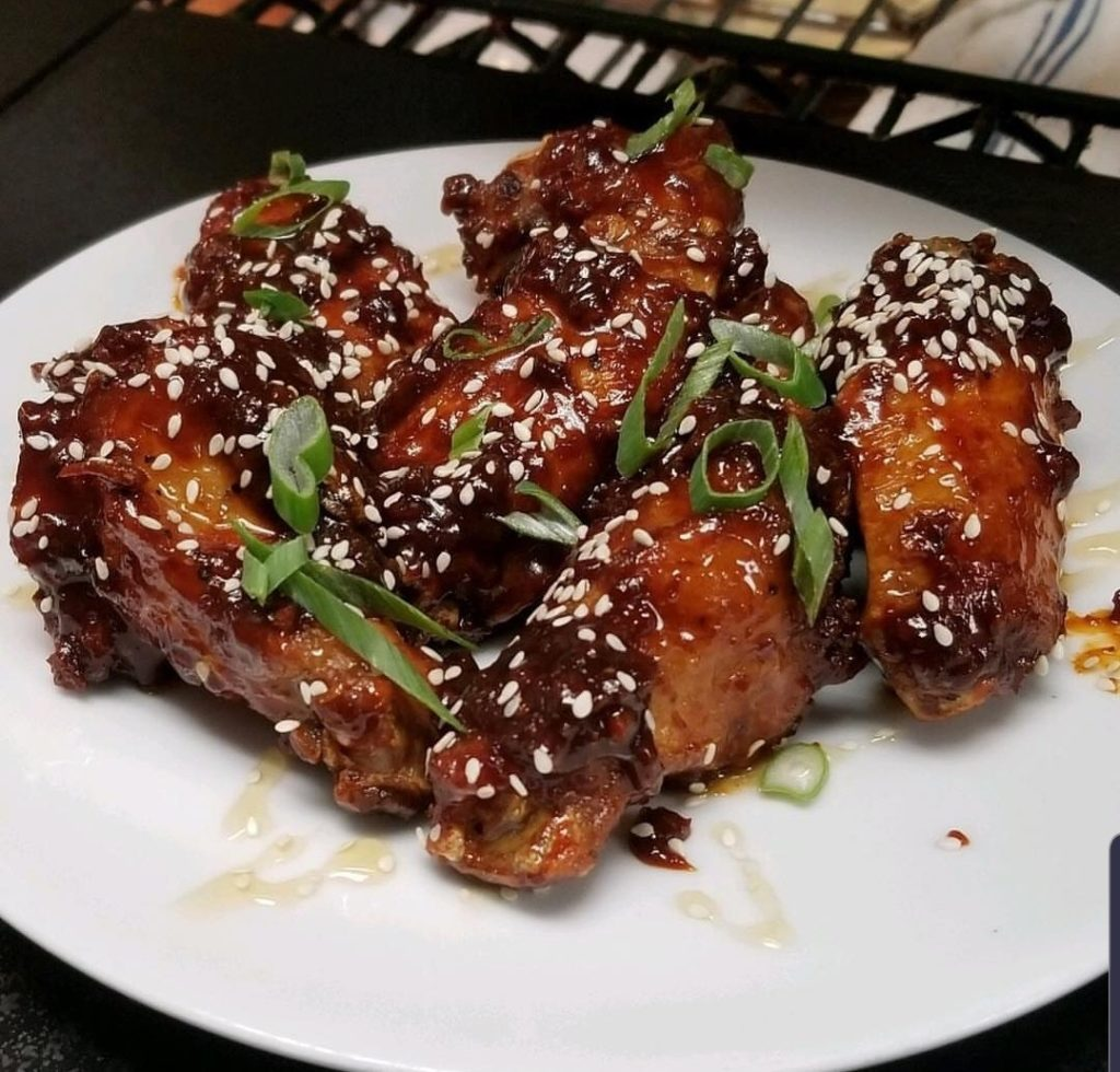 "lunch menu - ""korean 'sngry wings"""