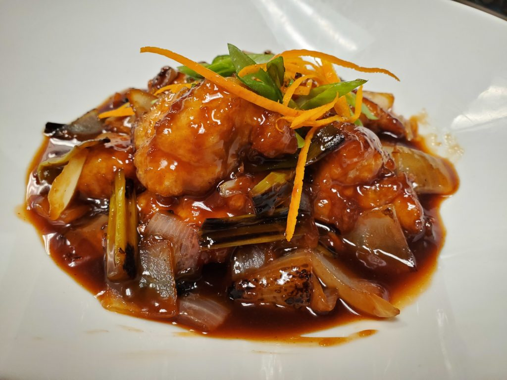 lunch menu - orange chicken